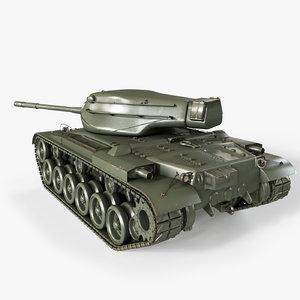 3D m47 patton tank