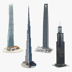 3D skyscrapers 2 model