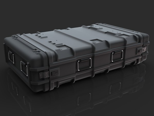 3D model sci-fi military container