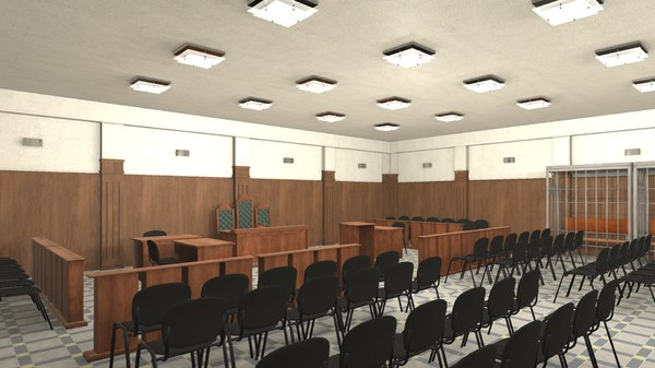 games courtroom - interior 3D model