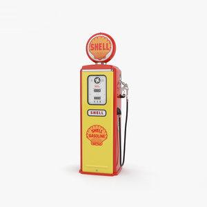 3D pump gas gasoline
