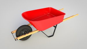garden tool wheelbarrow 3D model