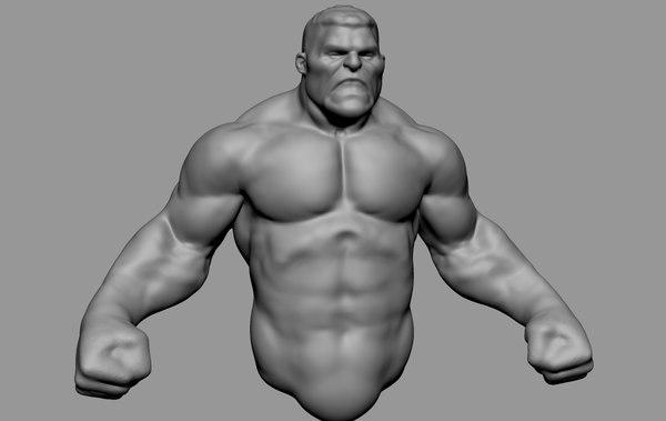 hero upper body 3D model