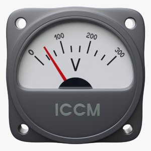 industrial analog voltmeter procedurally 3D