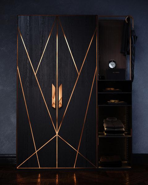 cabinet copper 3D model