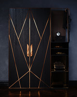 Cabinet with copper