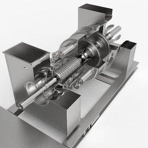 3D gas turbine model
