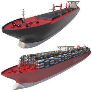 3D ships container carrier