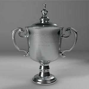 open men singles trophy 3D model