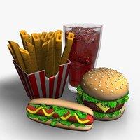 fast food 3D
