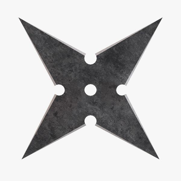 shuriken throwing star 3D