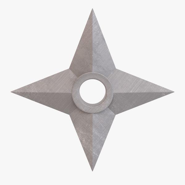 shuriken throwing star 3D model