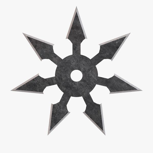 3D sichi-ho throwing star