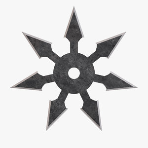 3D sichi-ho throwing star