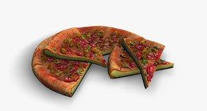 3D model pizza mushroom