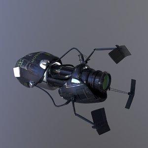 sci-fi spacecraft 3D model