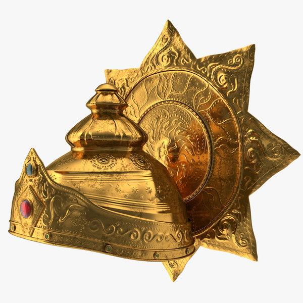 3D crown hindu god old