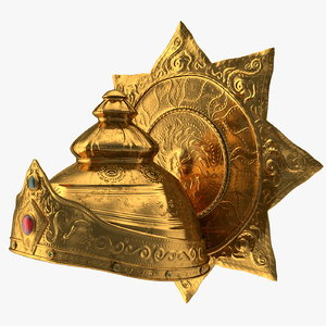 3D crown hindu god old