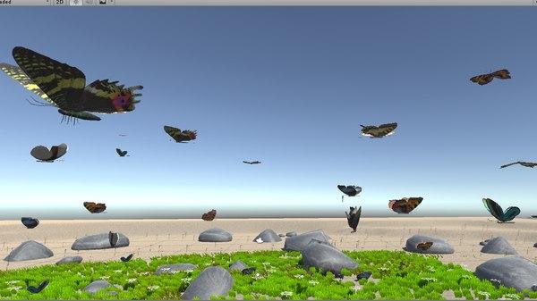 vr butterfly flying model