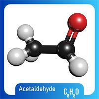 3D c8h8o acetaldehyde