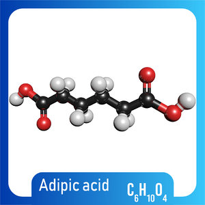 c6h10o4 molecule adipic acid 3D
