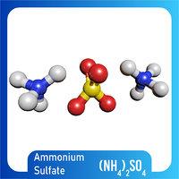 nh4 2so4 ammonium sulfate 3D