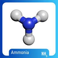 3D nh3 molecule ammonia