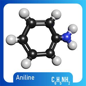 3D c6h5nh2 molecule aniline