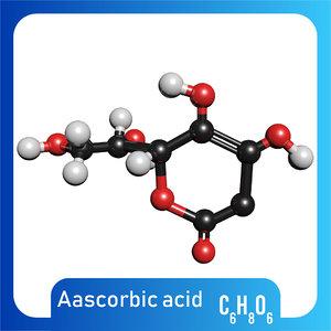 3D vitamin c molecule ascorbic model