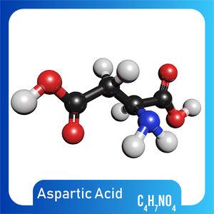 3D c4h7no4 aspartic acid c