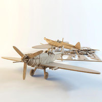 3D airplane supermarine spitfire fighter aircraft