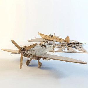 3D airplane supermarine spitfire fighter aircraft