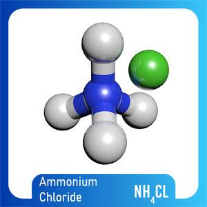 nh4cl ammonium chloride model