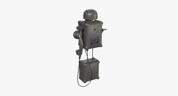 german wall telephone wwii 3D
