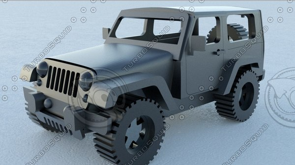 jeep car rhino vehicle 3D model
