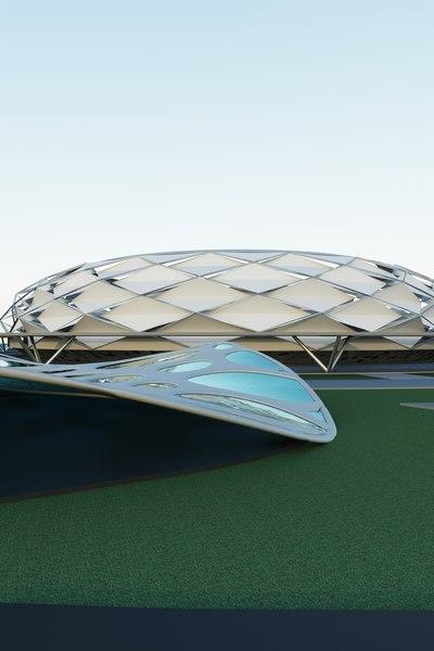 3D stadium model