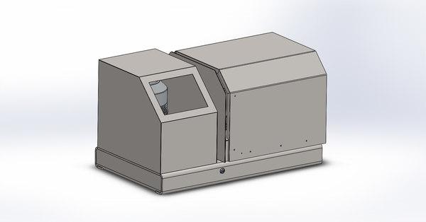 3D nano grinding mineral model
