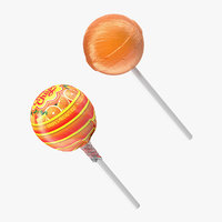 chupa chups lollipop orange 3D model