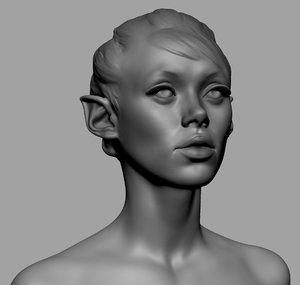 3D head ztl zbrush