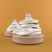 cream cartoon 3D