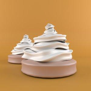 cream cartoon 3D