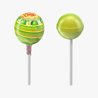 3D apple lollipop chupa chups model
