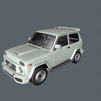 3D lada niva gelenwagen model