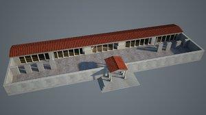 3D ancient gymnasium