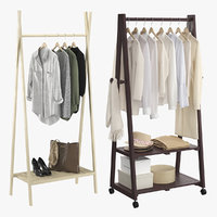 3D realistic clothes rack model