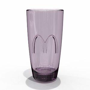 3D mcdonald promo color glass