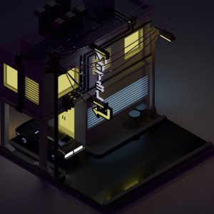 3D isometric motel