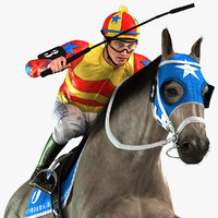 Racehorse and Jockey HQ 002