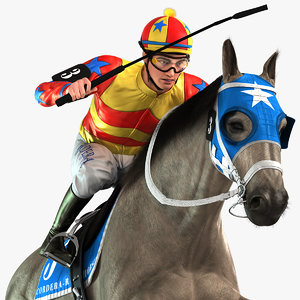 animations jockey model