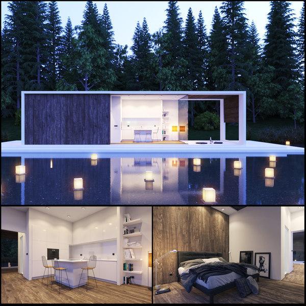 3D lake house model